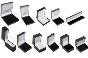 Classic Leatherette Jewellery Boxes Ring Bracelet Bangle Watch Necklace pendant