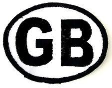 GB Ovale Grande Brittain Ricamato Da cucire o Da stirare Toppa Mostrina