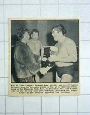 1967 Roy St Clair Gregory, Redruth Born Wrestler Win Devenish Trophy, Ann Ludlow