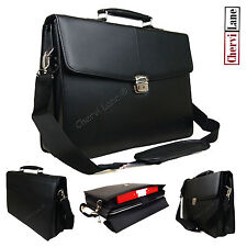 High Quality Mens New Faux Leather Business Laptop Briefcase Satchel Work Bag