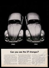 1961 VW Volkswagen Beetle & 1960 photo See the 27 Changes 11x8 print ad