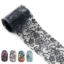 Lace Style Nail Art Transfer Foil Nail Stickers Polish Decal Tip Decoration Y112