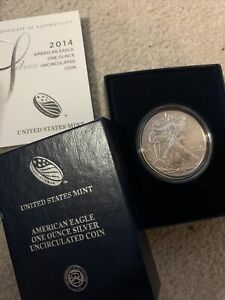 Silver American Eagle 1oz Uncirculated in Box with COA 2014