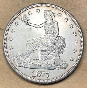 1877-S Trade Dollar  AU/UNC