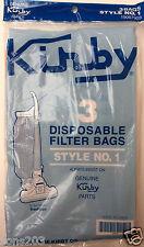 3 Vacuum Bags, GENUINE KIRBY Style No 1 Vacuum Cleaner. Part 19067903
