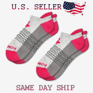 2-Pack Bombas Original Ankle Socks - Grey & Hot Pink - Women's Medium