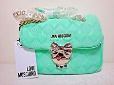 NWT Love Moschino Quilted Buckle Convertible Crossbody, Green