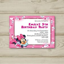 Minnie Mouse Birthday Party Invitations Personalised