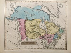 1840 Antique Scarce Map; British Dominions in North America after John Russell
