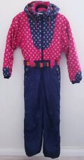OBERMEYER Girl's One Piece Hooded Snow Ski Suit Size 18 Juniors Vintage Rare
