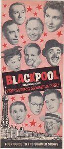 Blackpool Showtime 1959 Summer Season three folded flyer