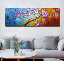 Canvas Print Wall Art Oil Painting Colorful Flower Tree & Star Modern Home Decor