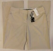 EXPRESS Editor Pants Luxury Stretch Low Rise Flare Size 10 in Cream NWT