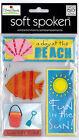 MAMBI Soft Spoken ELLEN BEACH/SUMMER Stickers Embellishments Me & My Big Ideas