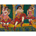 Ernst Ludwig Kirchner Czardas Dancers Extra Large Wall Print Canvas Mural