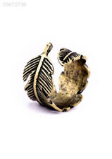 Hot Fashion Charming Vintage Retro Bronze Women Feather Leaf Ring JEWEL