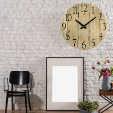 Country House Style Wall Clock Time Indicator Wood Design Hall Decoration