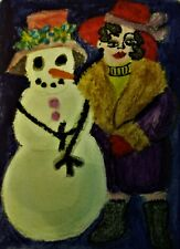 ACEO, TESS & TILLIE Inktense Pencils and Ink, by Folk Artist Stacey Torres