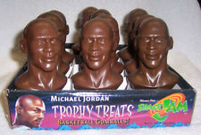 "Michael Jordan ~ Brand New Complete Case Of ""Trophy Treats"" ~Figural Busts Of Mj"