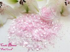 Nail Art *Pink Crush* Chunky Hexagons Holographic Mix Spangles Glitters Dust Pot