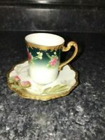 Antique Limoges Porcelain tea cup and saucer