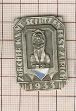 SCHWEIZ. Schützen medaillen. Zürich. Silbermedaille 1933.  Kantonalschützenfest.