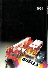 Catalogue Siku 1992