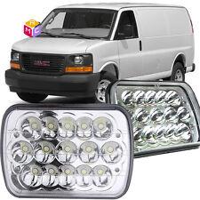 Pair LED Headlight Crystal Clear for Chevrolet C2500 K2500 C3500 K3500 LUV S10