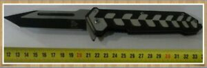 Pocket/Folding Knife 23cm Long, Heavy Weighing 230grm. Thick Blade, Black/Silver
