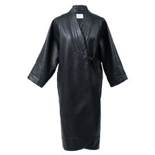 Women's Black Faux Leather Kimono Coat Jacket Oversized Coat. New! Ship Free!