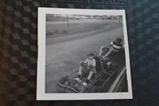Vintage Photo Happy Boys Go Karts Race Track Free Shipping 302011