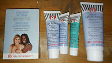 First Aid Beauty FAB Face Clenser Wash Bag New Minis Peel Repair Serum Make up