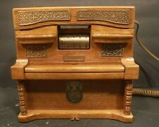 Vintage Wooden Player Piano Music Box Push Button Phone Grande Ole Opry Wsm