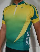 Jaggad Green & Gold Australian Colours cycling bike Jersey SLIM FIT