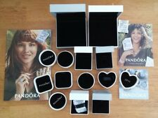 AUTHENTIC PANDORA 10 ASSORTED BEAD/CHARM/BRACELET GIFT BOXES W/SLEEVES & 3 BOOKS