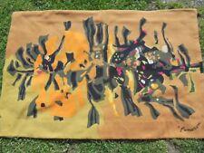 René Fumeron Art Déco XXème Rare Tapisserie Imprimée Signée dessin.