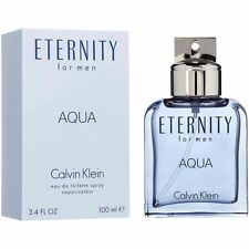 Eternity Aqua Cologne Perfume by Calvin Klein 3.4 oz 100 ml EDT Spray Men New
