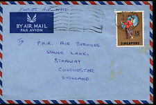 Singapore 1970 Commercial Airmail Cover To UK #C38394