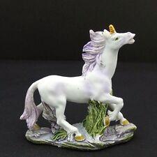 "Mini Unicorn Figurine Statue Purple Mane & Tail Mythical Fantasy 3"" New 2"