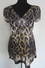 Millers Polyester Animal Print Short Sleeve Tops & Blouses for Women