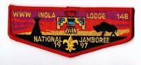 Boy Scout OA 148 Inola 1997 National Jamboree Lodge Flap