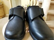Men's Orthofeet Shoes Size 9 Wide  Black Leather