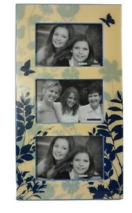 """Beautiful 16"""" Tall Picture Frame. 3 Pictures 6x4 Stands Up or Hangs On The Wall"""