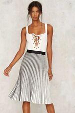 NASTY GAL Lucy Paris Selina Pleated Skirt Sz Medium NWT