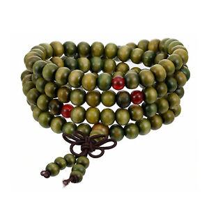 Wickelarmband Chakra Mala Kette Buddha Gebetskette Halskette 108 Holz-Perlen