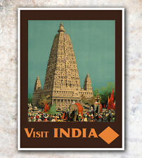 "India Art Vintage Travel Poster 8x10"" A242"