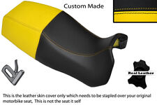 BLACK & YELLOW CUSTOM FITS DUCATI PASO 750 906 907 IE DUAL REAL SEAT COVER