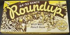 RARE VINTAGE STARR KNIGHT COWBOY 64-32 RANCH ROUNDUP BOARD GAME 1952 WALES GAME