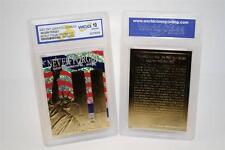 WORLD TRADE CENTER 9/11 Anniversary 2002 Gold Card Patriotic GEM MINT 10 * BOGO