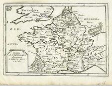 1677 Genuine Antique map of France. Gallia. Gallico. Du Val